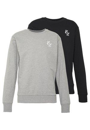 CREWNECK 2 PACK  - Sweater - grey/black