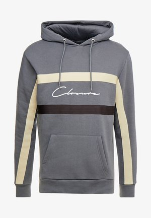 BAND STRIPE HOODY - Jersey con capucha - grey