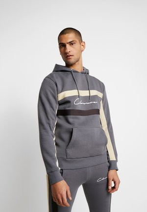 BAND STRIPE HOODY - Sweat à capuche - grey