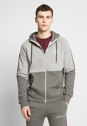 TWO TONE HOODY - Felpa aperta - grey