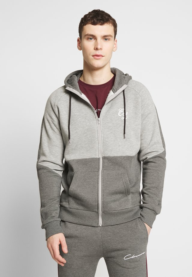 TWO TONE HOODY - Zip-up hoodie - grey
