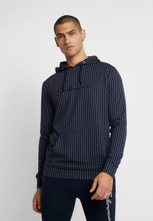 PIN STRIPE HOODY - Sweat à capuche - navy