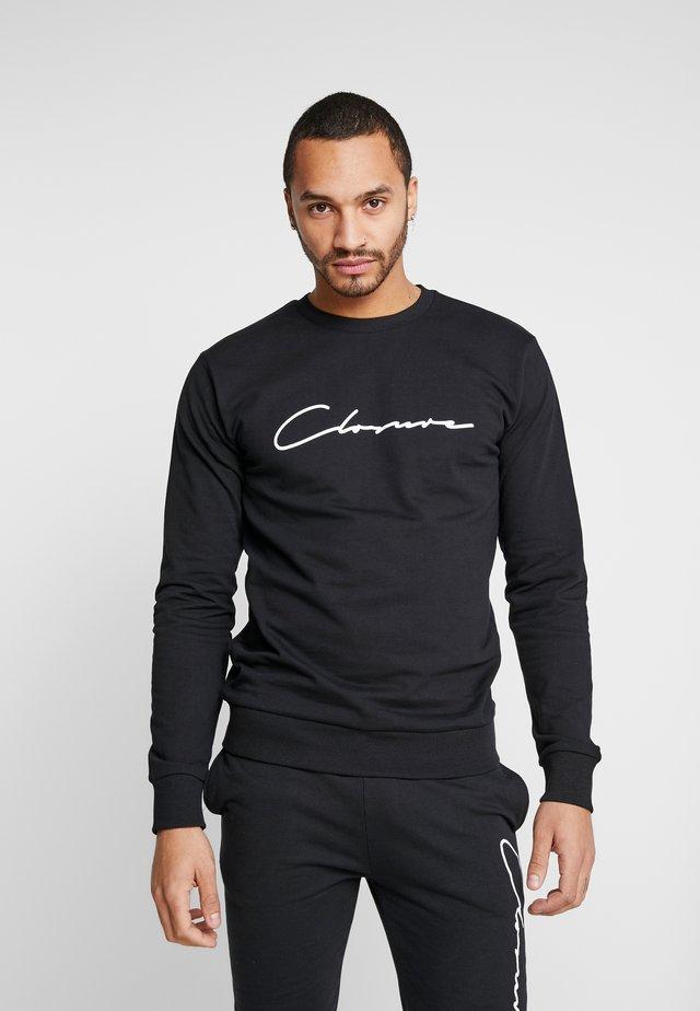 SCRIPT CREWNECK TRACKSUIT - Dres - black