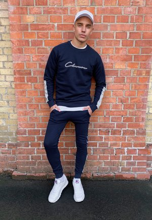 SCRIPT TRACKSUIT - Sweater - navy