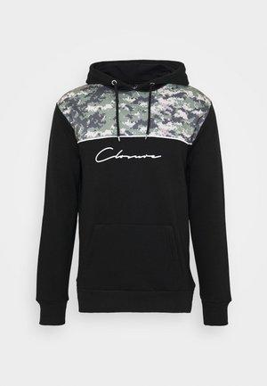 CAMO CUT SEW HOODY - Hoodie - black