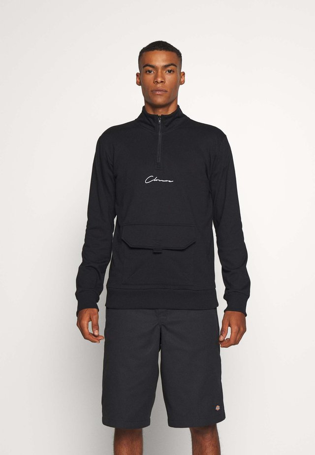 UTILITY TRACKTOP - Sweater - black