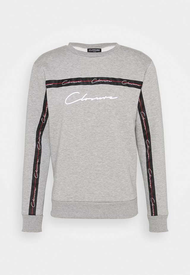 SCRIPT CREWNECK WITH TAPING - Sweatshirt - grey