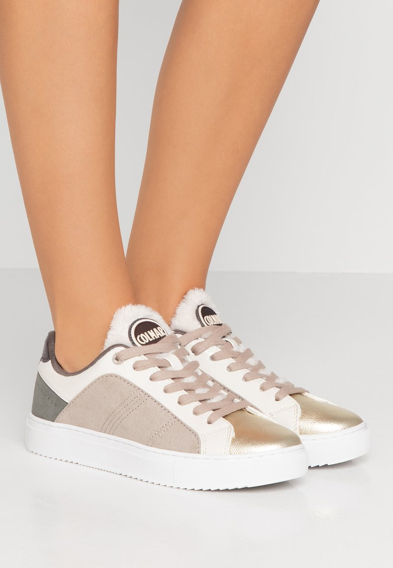 Colmar Originals - BRADBURY SAVAGE - Sneaker low - white/gold