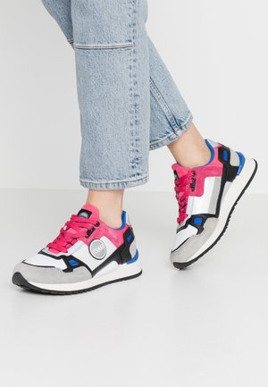 TYLER BEAT - Sneaker low - light grey/fuchsia/blue
