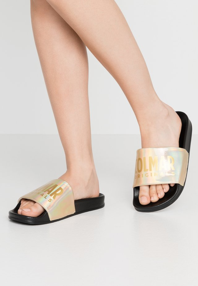 SLIPPER  - Mules - black/gold