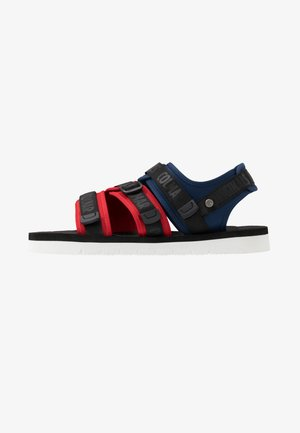 KAEL COLORS - Walking sandals - dark blue/red/black