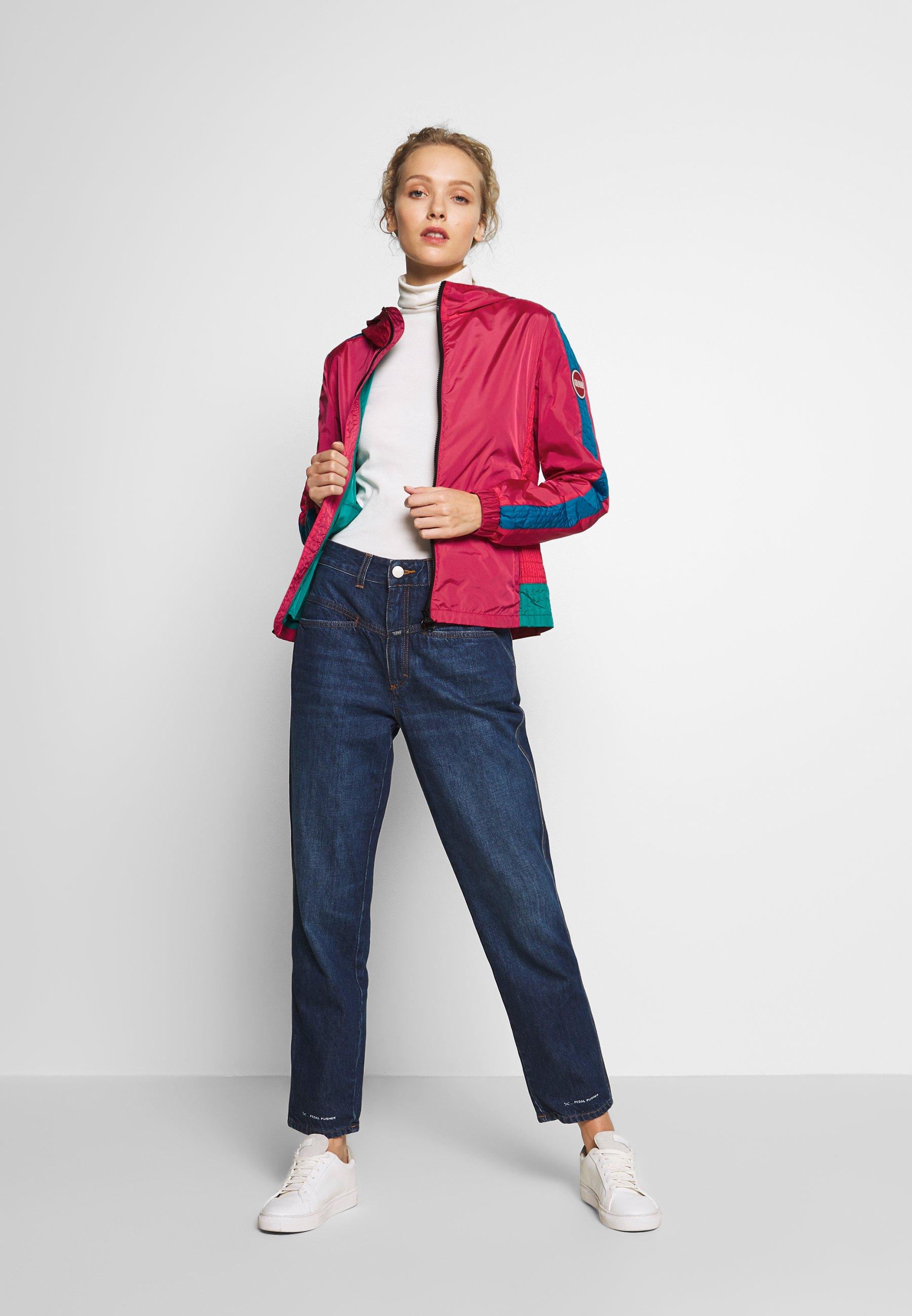 Colmar Originals Ladies Jacket - Kevyt Takki Raspberry/blue Fish