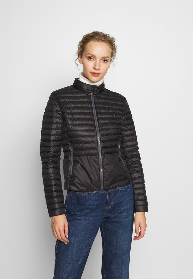 LADIES DOWN JACKET - Kurtka puchowa - black/light steel