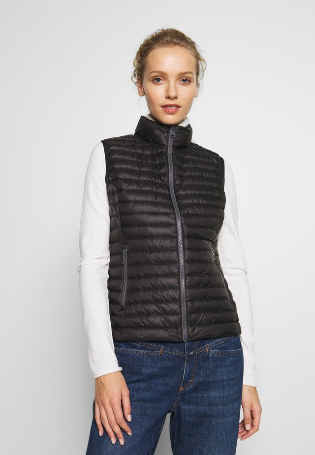 LADIES VEST - Väst - black/light steel