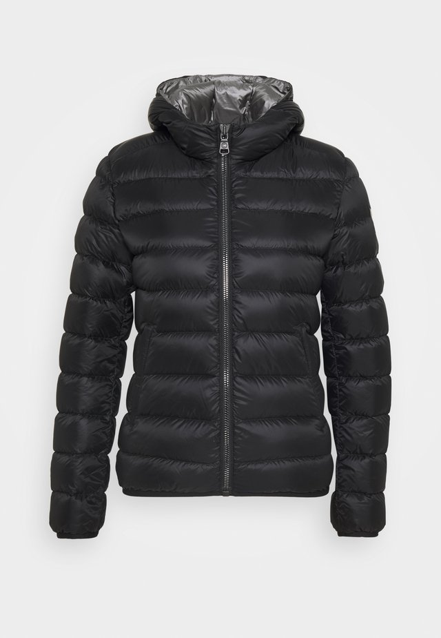 LADIES JACKET - Down jacket - black/dark steel