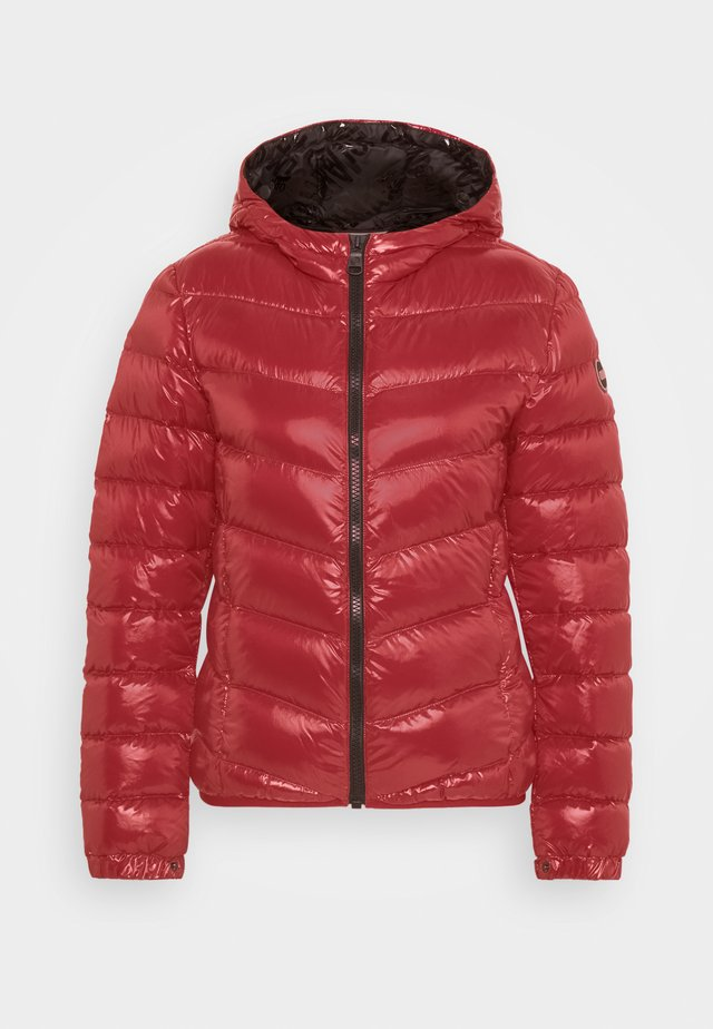 LADIES JACKET - Down jacket - red velvet/black
