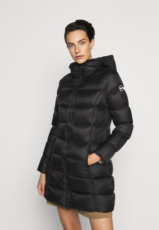 Down coat - black dark steel