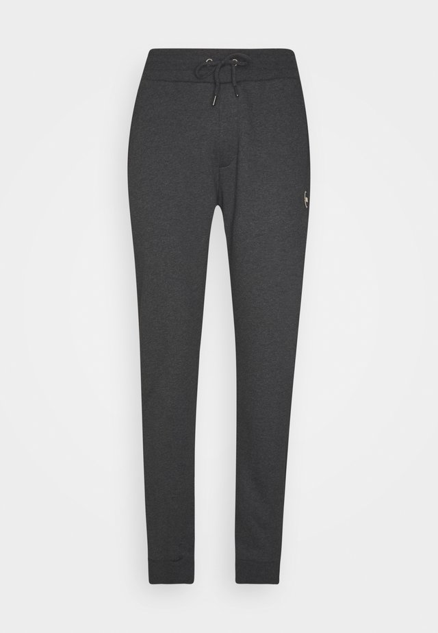 MENS PANTS - Tracksuit bottoms - melange charcoal