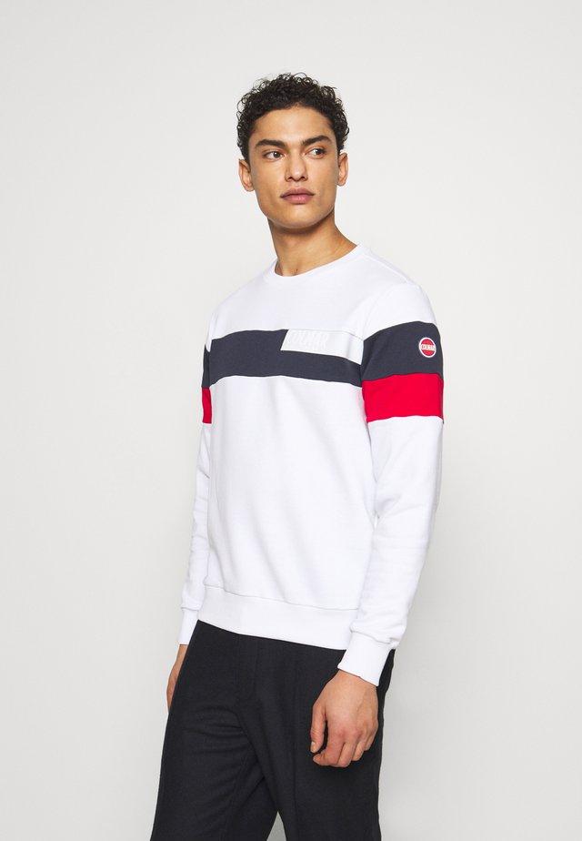 MENS - Sweatshirt - white/navy blue