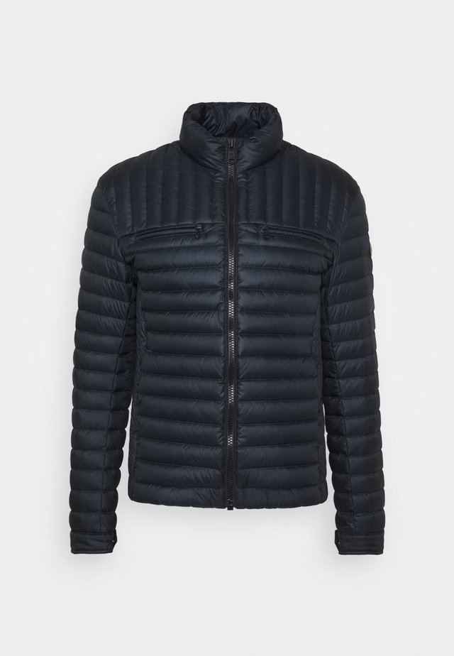 MENS JACKET - Down jacket - navy blue/coffee