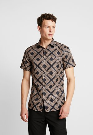 ROMAN SHIRT - Shirt - black/gold