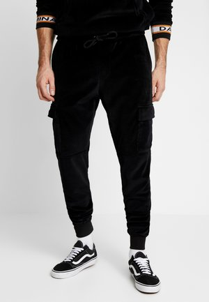 VELOUR CARGO - Cargobroek - black