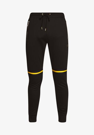 WISE PANEL JOGGER - Träningsbyxor - black/yellow
