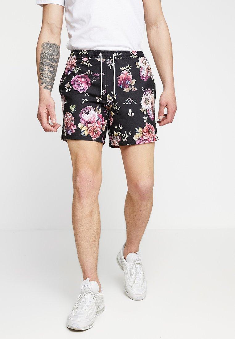 Criminal Damage - BLOOMS - Shorts - black/multi