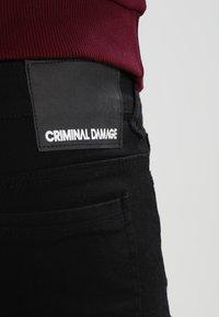 Criminal Damage - CAMDEN  - Vaqueros pitillo - black - 4