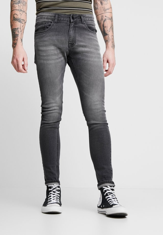 SKINNY  - Jeans Skinny Fit - washed black/grey