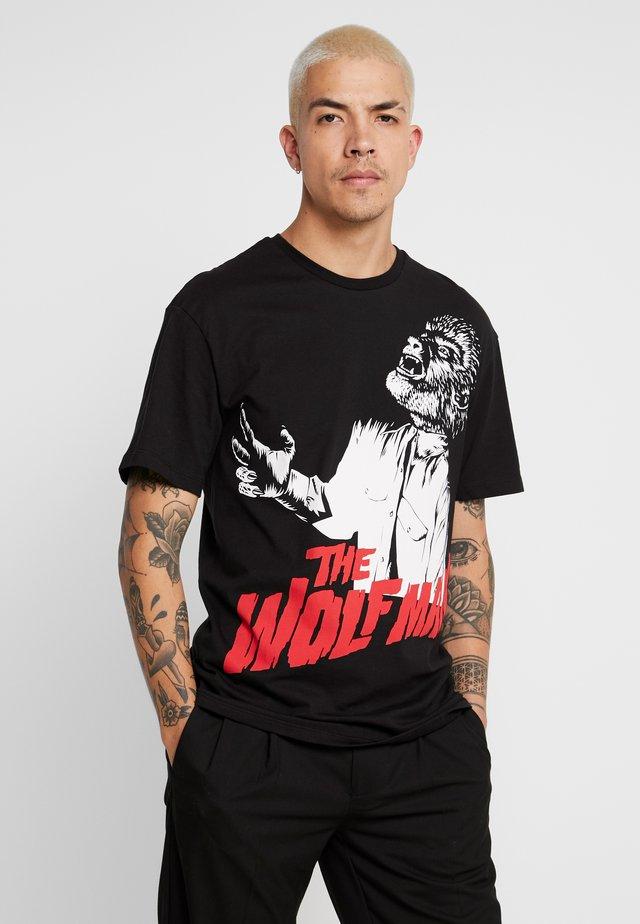 WOLFMAN - Print T-shirt - black