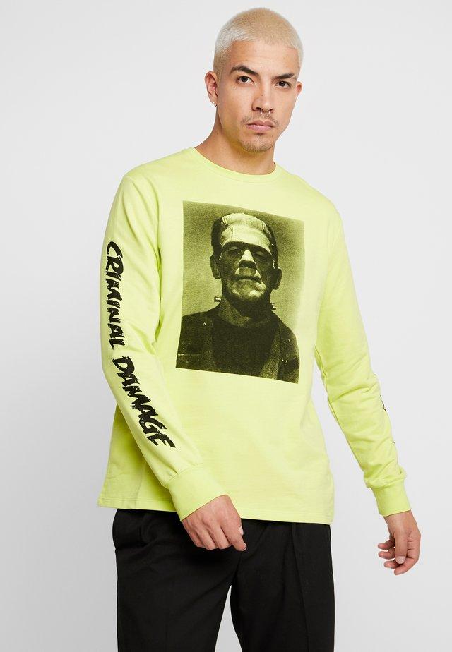 FRANKENSTEIN  - T-shirt à manches longues - fluro yellow