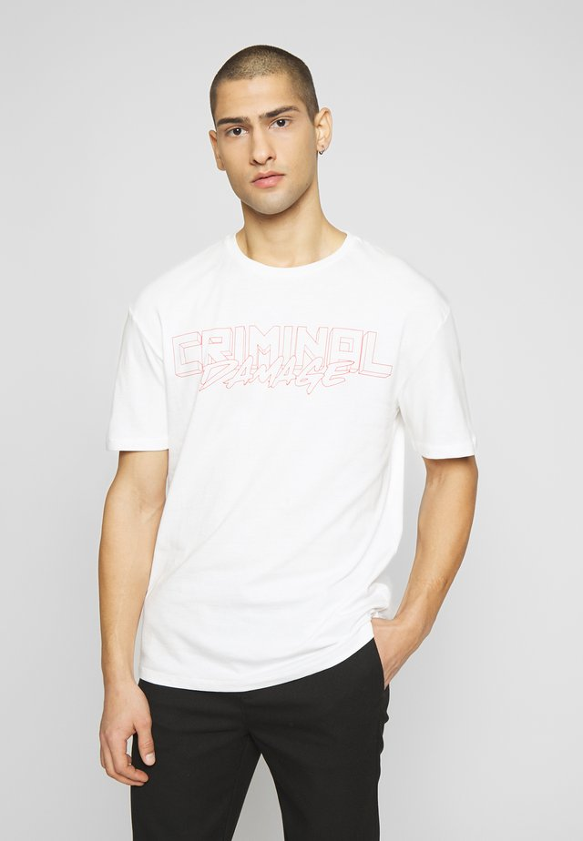 VOLATILE - Print T-shirt - offwhite/red