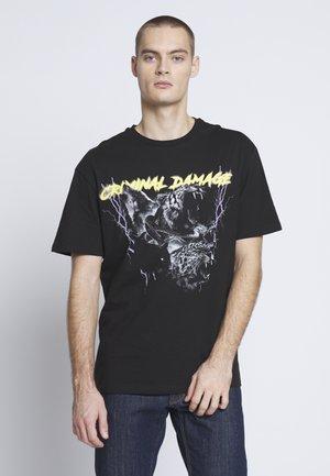 PREDATOR TEE - T-shirt imprimé - black/multi