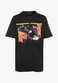 Criminal Damage - EAGLE TEE - Print T-shirt - black/multi - 4