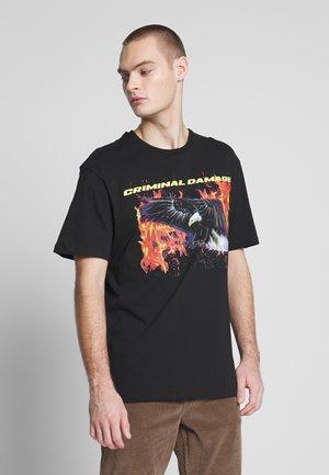 EAGLE TEE - T-shirt print - black/multi