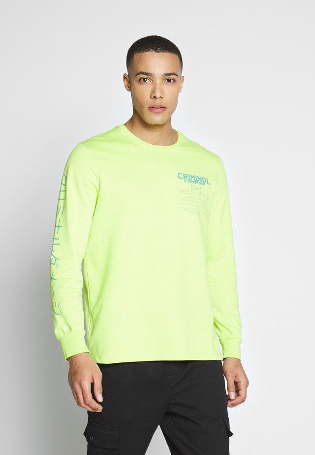 GLOBE TOP - Sweatshirt - neon green/multi