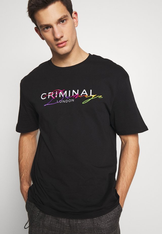 SCRIPT TEE - T-shirt med print - black