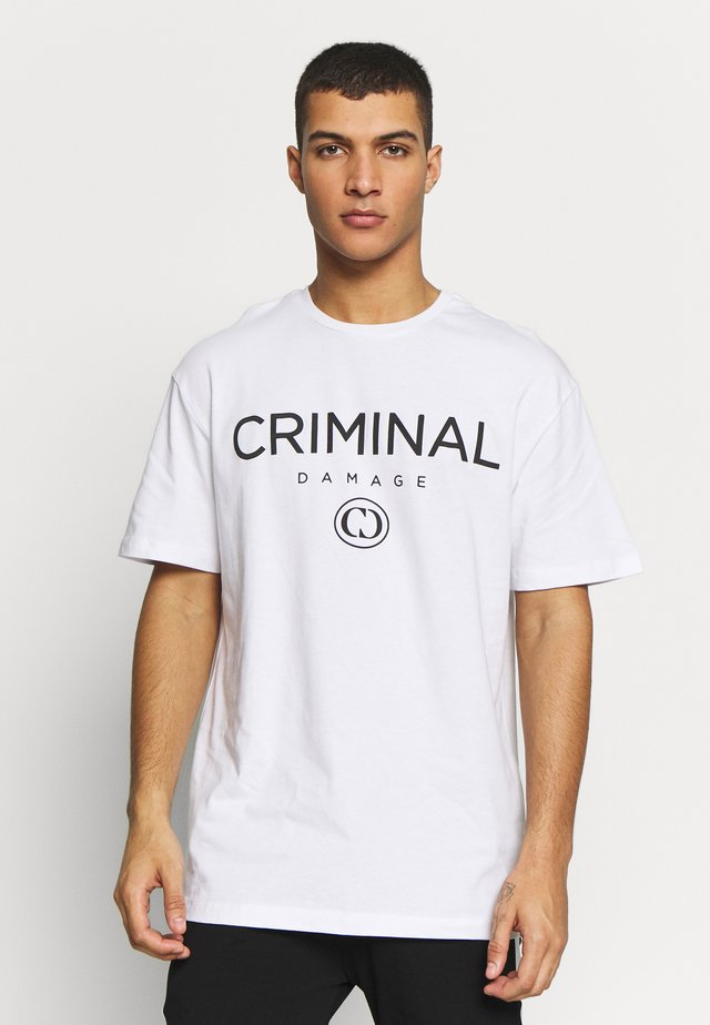 SIMPLE TYPE TEE - Print T-shirt - white