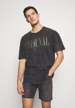CRIMINAL NIRVANA - T-shirt print - black