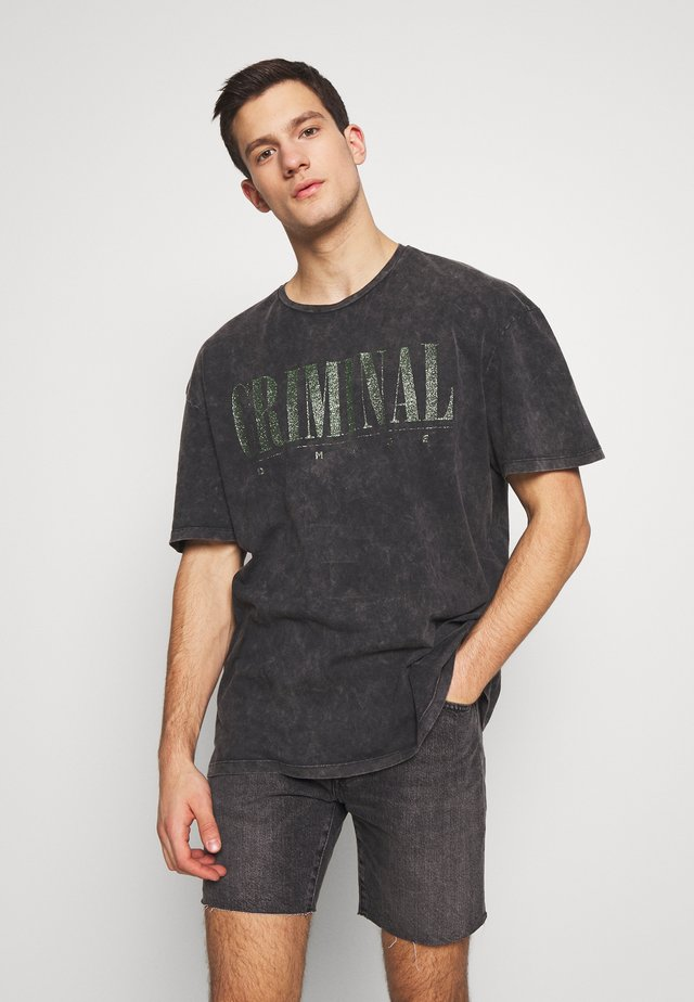 CRIMINAL NIRVANA - T-shirts med print - black