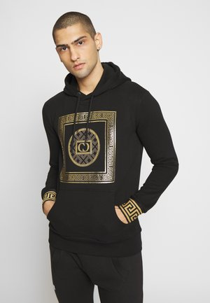 MILANO HOOD - Sweat à capuche - black/gold