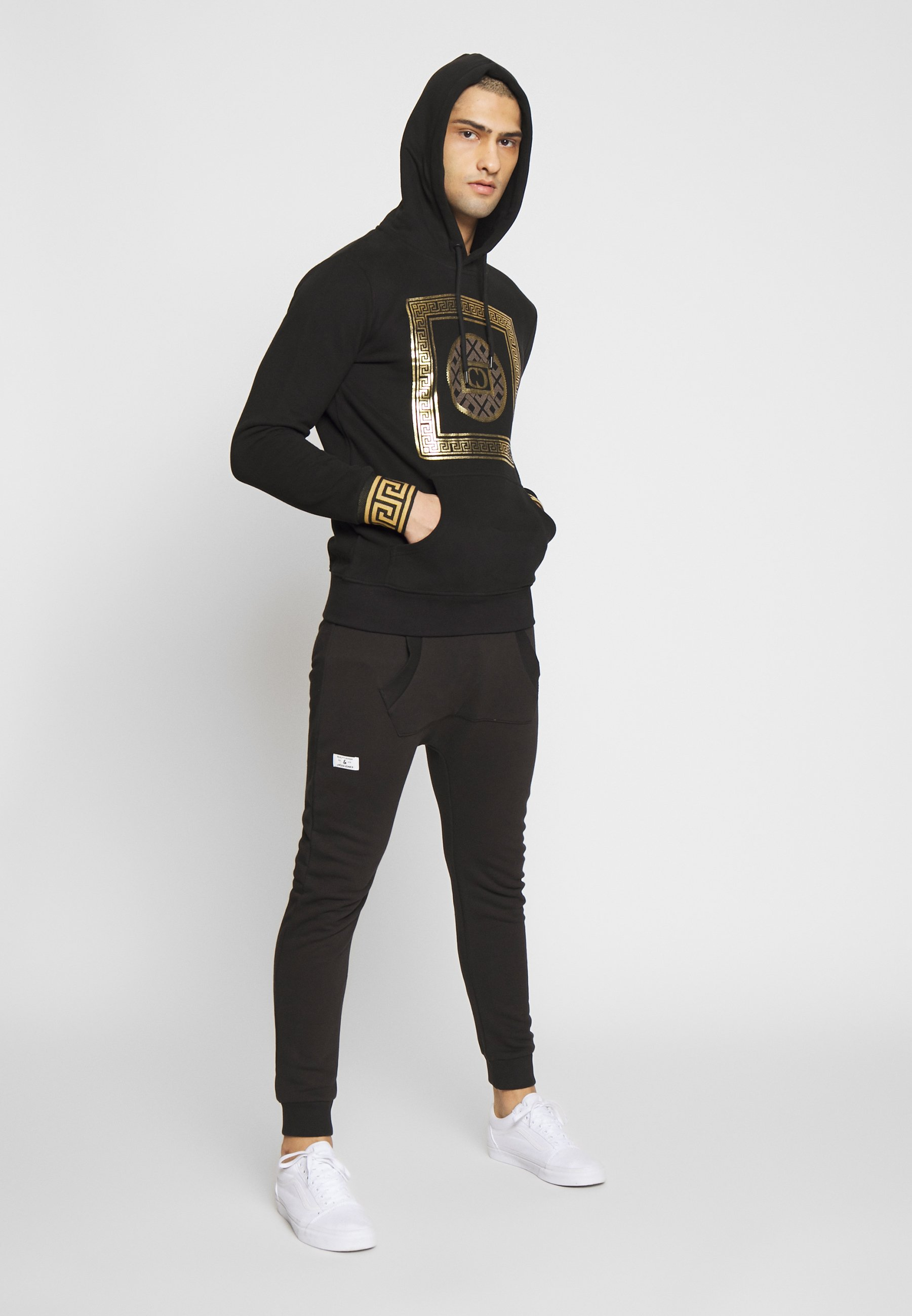 Criminal Damage MILANO HOOD - Bluza z kapturem - black/gold