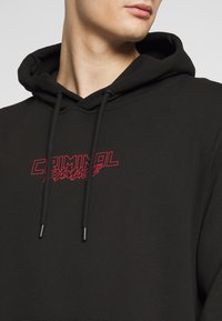 Criminal Damage - DRAGON HOOD - Jersey con capucha - black/multi - 5