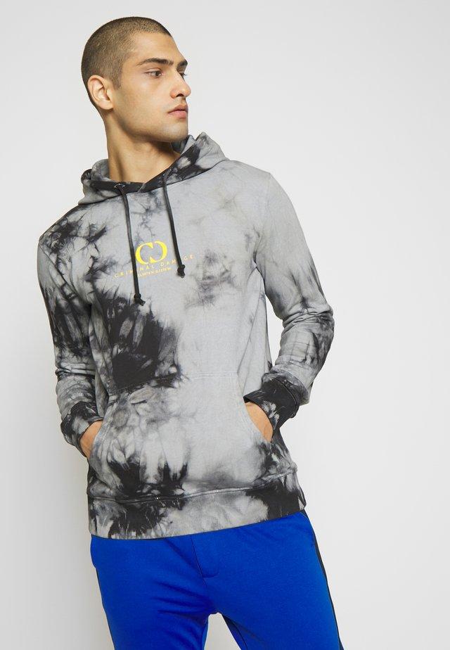 SPLASH DYE HOOD - Sweat à capuche - grey