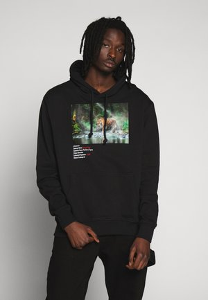 WORLD LAND TRUST TIGER HOOD - Jersey con capucha - black