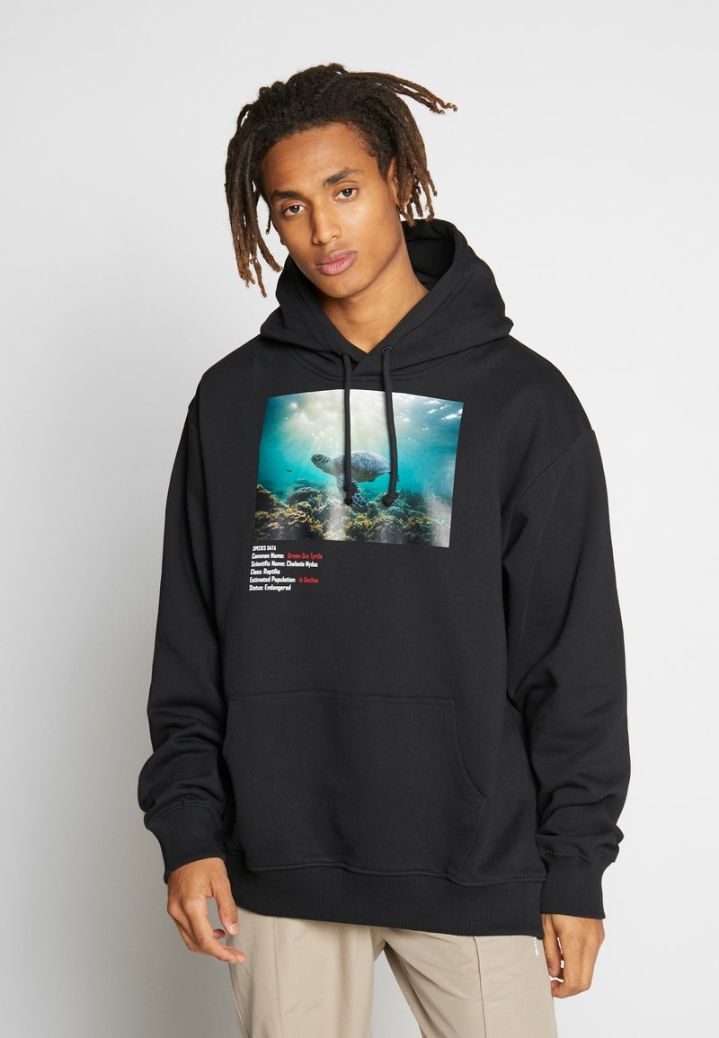 Criminal Damage - WORLD LAND TRUST TURTLE HOOD - Hoodie - black