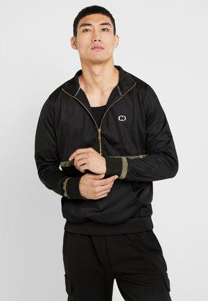 VERINO TRACK TOP - Sweater - black/gold coloured