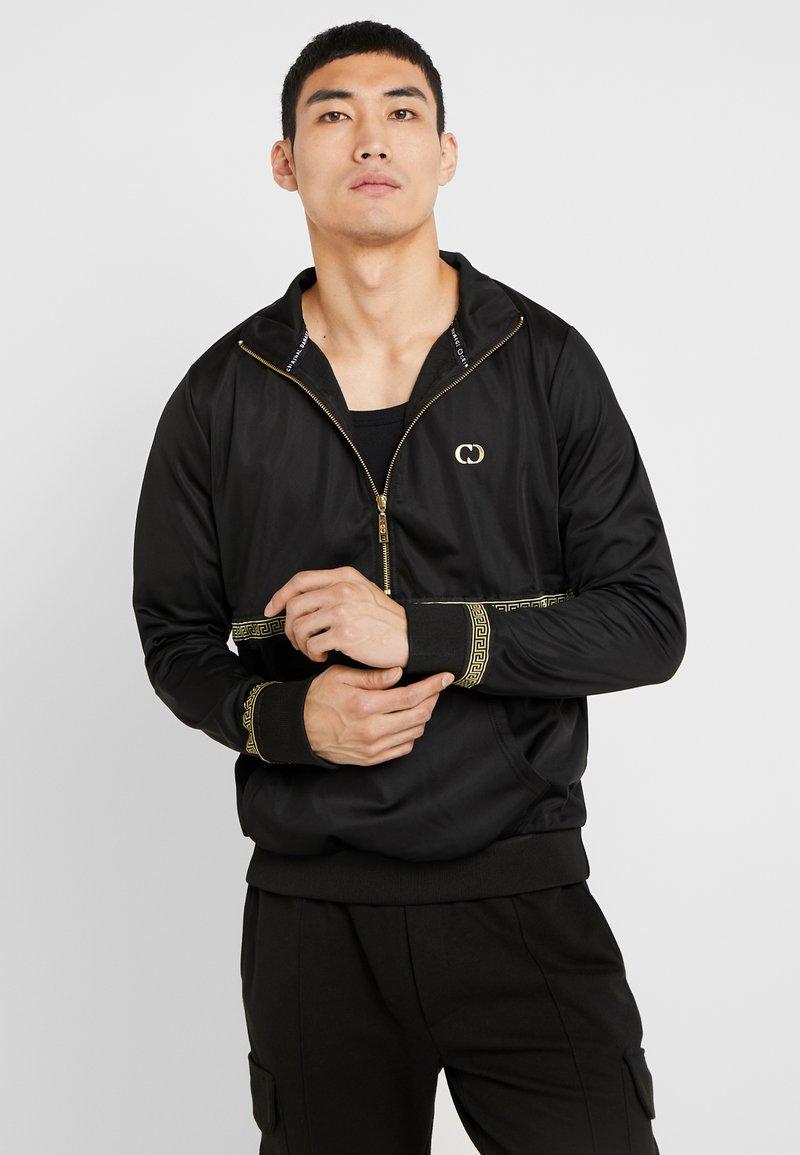 Criminal Damage - VERINO TRACK TOP - Sweatshirt - black/gold coloured