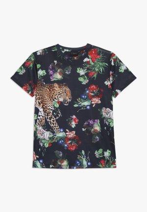 JAVAN TEE - T-Shirt print - black/multicolored